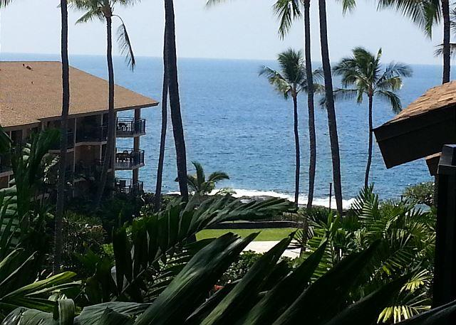 View of Ocean from Lanai - Kona Makai 5305 1 Bedroom + Loft and 2 Lanais! **New Addition to Inventory!** - Kailua-Kona - rentals