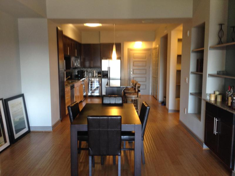 View of the Gourmet Kitchen and Breakfast Room - BEST SXSW DOWNTOWN LUXURY APT! - Austin - rentals