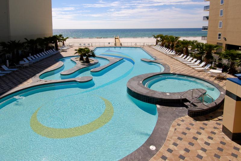 Gulfside pool, lazy river, hot tub - 2 BR 2 BA Condo at Crystal Tower Gulf Shores, AL - Gulf Shores - rentals
