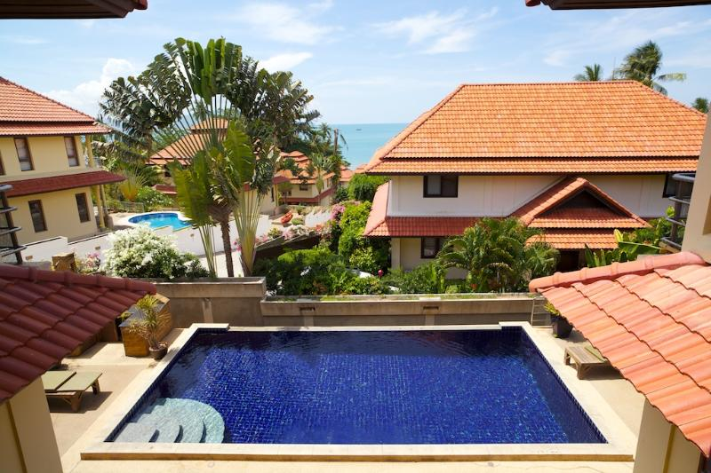 Private pool with view - Ocean view 4 bedroom villa with private pool - Bophut - rentals
