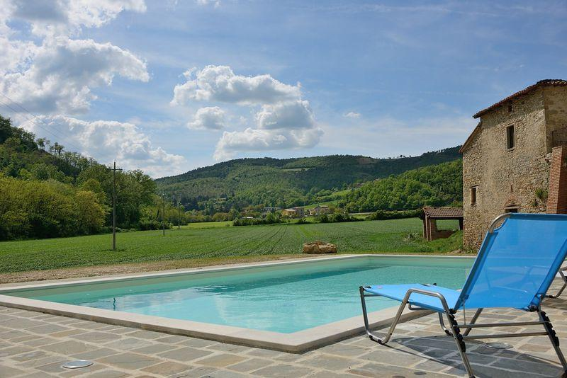 Apartment in Rural House with Pool - Image 1 - Monte Santa Maria Tiberina - rentals