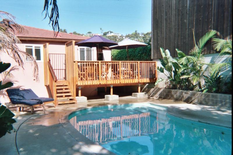 PRIVATE DECK,POOL & YARD NONE ARE SHARED - HISTORIC OLD TOWN DISTRICT STUDIO ,POOL & CABANA - San Diego - rentals