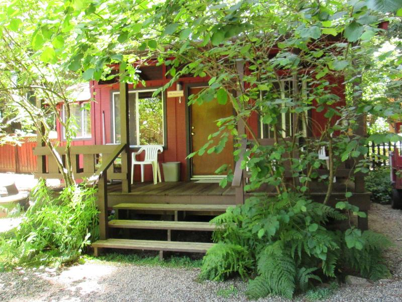 Outside of the cabin - The Hazelnut Studio Cabin with kitchenette in the Redwoods - Felton - rentals