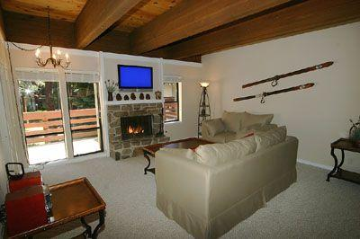 Living Room with Fireplace and High-Def LCD TV - Country Club Mall 8 - Incline Village - rentals