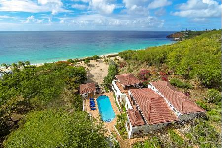 Beachfront Joie de Vivre on 4.4 acres on 3 levels, panoramic views, pool & amazing staff - Image 1 - Baie Rouge - rentals