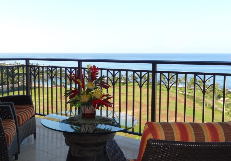 Spectacular Ocean View from Our Lanai - Luxurious Penthouse Spectacular Ocean View - Ko Olina Beach - rentals