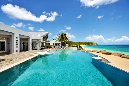 Le Reve - Stunning beachfront villa with pool, tennis court, gym & spa - Image 1 - Terres Basses - rentals