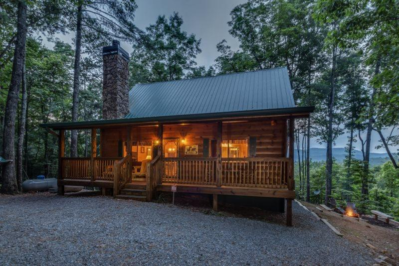 Cabin view at twilight - Misty Ridge - Ellijay GA - Ellijay - rentals