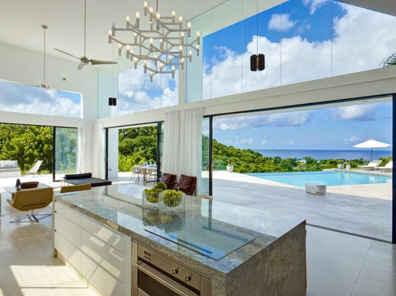 View from the kitchen - Stunning contemporary design, dramatic coast views - Saint James - rentals