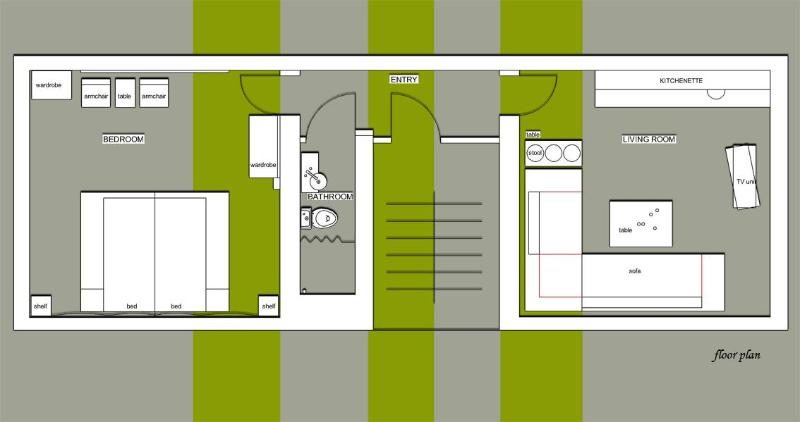 plan of 1+1 apartment - Apart of Many Things, 1+1 Apartment - Istanbul - rentals