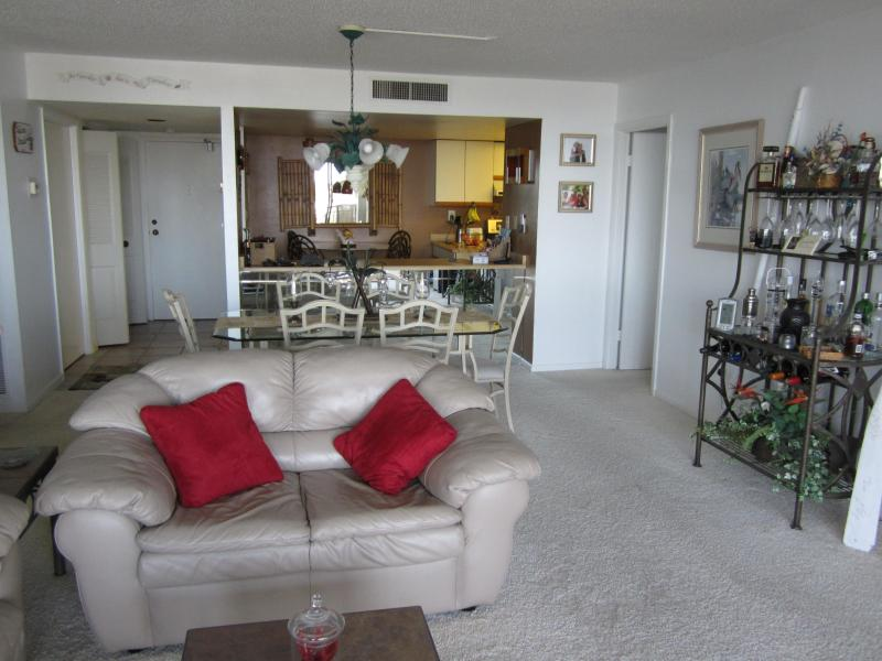 Our beautiful, large living room facing the Gulf of Mexico - Mansions by the Sea 2 Bedroom Gulf Front Condo - Treasure Island - rentals