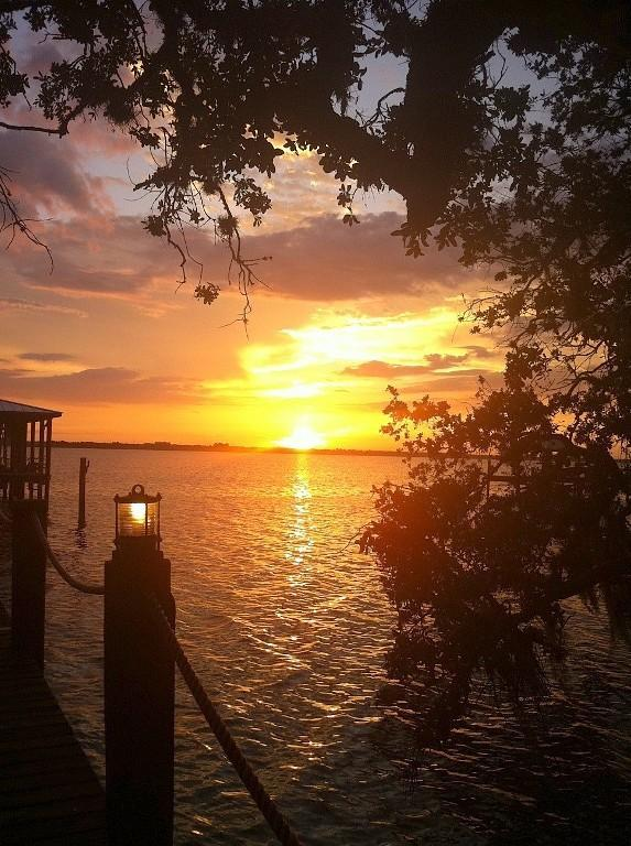 Amazing Sunsets On Dock- Property Backyard Faces WEST! - 1 1/2 Acre Luxury Waterfront Home w/ Guest House - Merritt Island - rentals