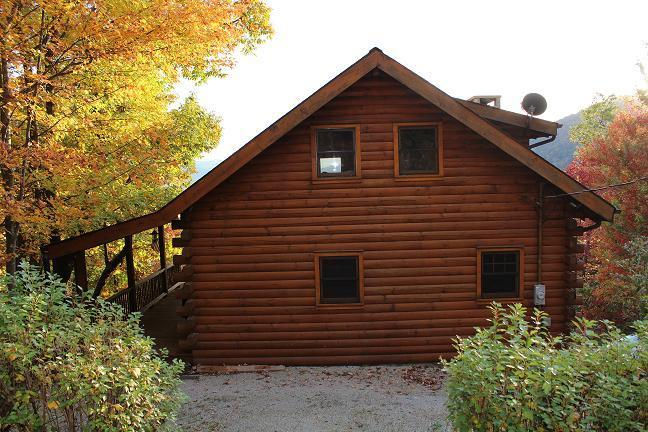 East Side of Cabin - North Carolina Log Mountain Home Vacation Rental - Marion - rentals