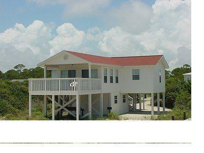 Sparkling water view from a covered front deck - Image 1 - Saint George Island - rentals