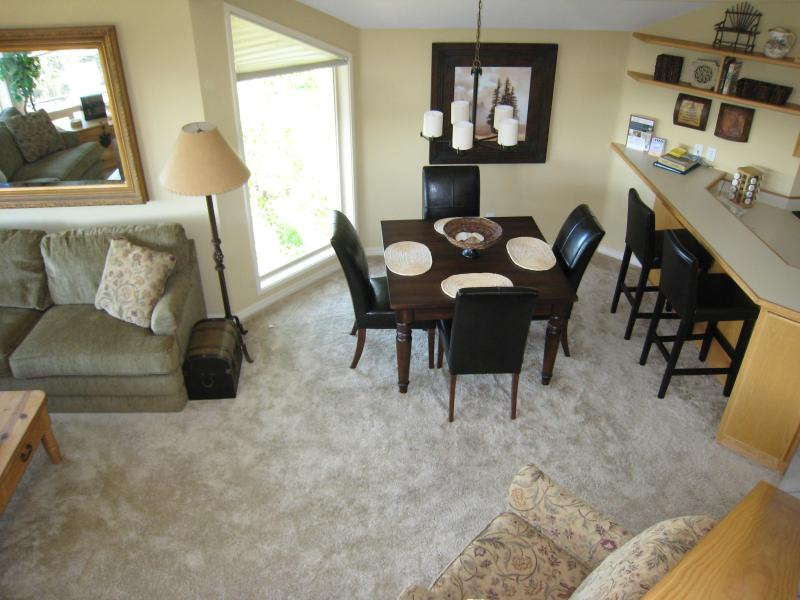 From the balcony - Mt. Bachelor Village 3 bdrm condo - Paradise! - Bend - rentals