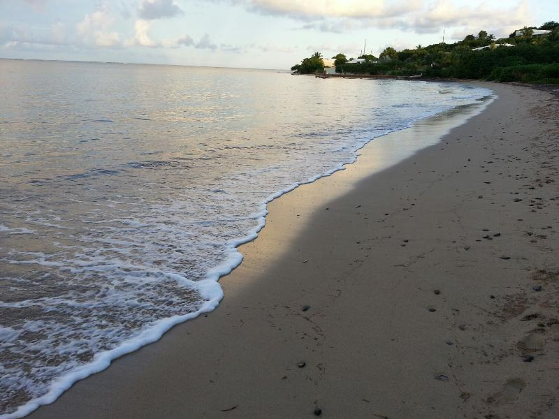 beach across road from Villa's ensuite - Island Charm in Cotton Valley Beach community - Christiansted - rentals
