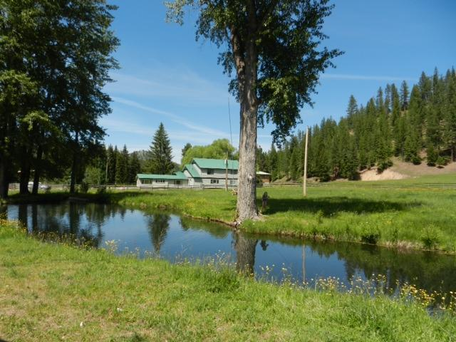 Pond and House  - Seculded 500 acre ranch on the Bitterroot River - Darby - rentals