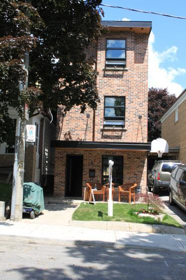 Front of house- reclaimed brick from 1920's - Contemporary Loft Style Home- Toronto Beaches - Toronto - rentals