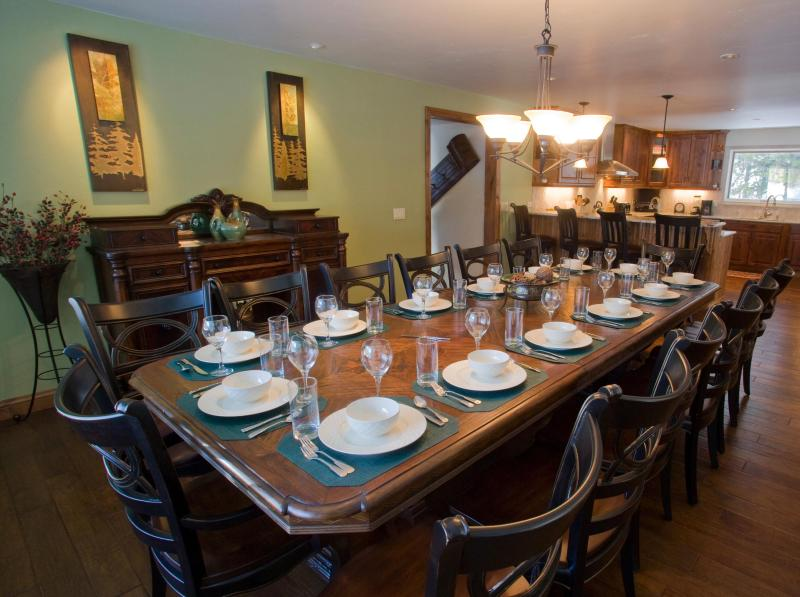 Dining table can accomodate up to 16 people with an additional 4 at kitchen counter.   - Gorgeous Home! On Bus Route! Only 10 Min to Breck - Frisco - rentals