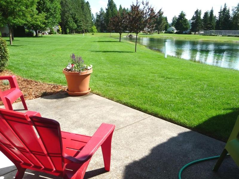 Your view off the living room from the patio. - August Dates Still Available! Golf, Pool, Beach... - Rathdrum - rentals