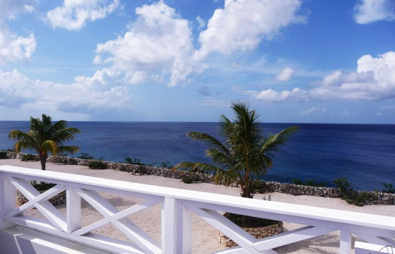 View from large tiled upper level balcony - Welcome to Your All New 8b Oceanfront Townhome - Westpunt - rentals