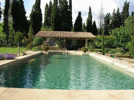 The 18 meters long swimming pool - Beautiful guest room in Provence with huge pool - Le Paradou - rentals