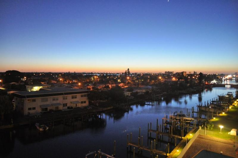 Sunrise on the rear balcony - Beach and Boaters Delight! Almost 4000 sqft! - Treasure Island - rentals