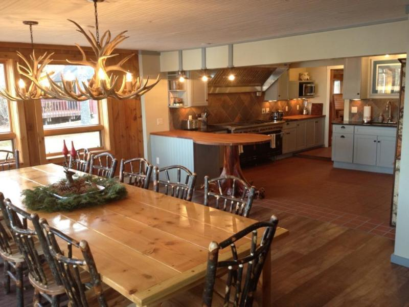 Lodge dining and kitchen - Clam Lake Lodge - Iconic North Woods Lodge - Clam Lake - rentals