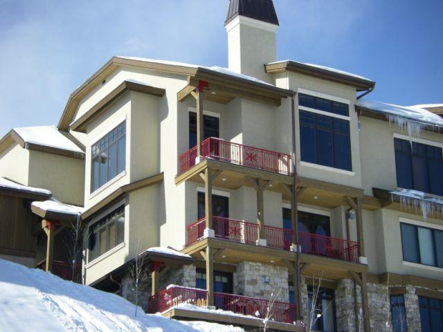 From the village looking up the Mountain - True Ski in ski out 4 br 5 ba home at the Canyons - Park City - rentals