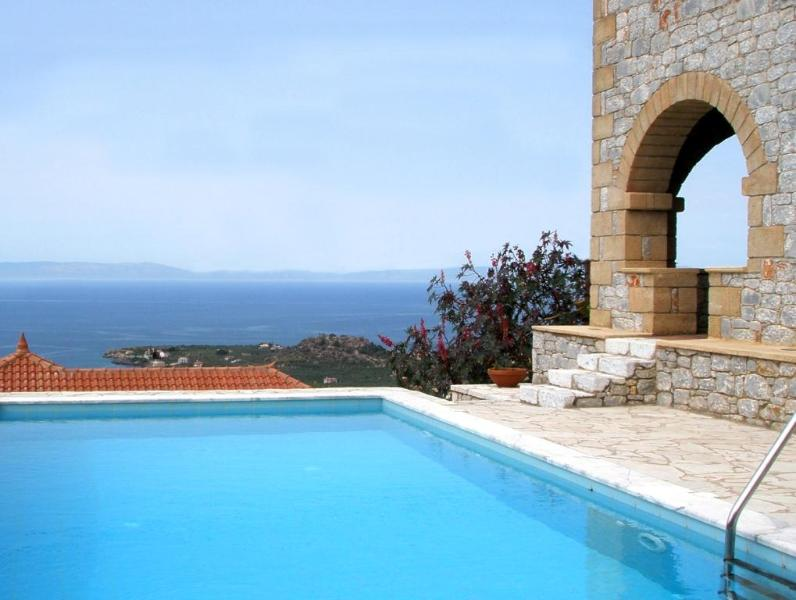 Views from private pool - Luxurious Villa above Stoupa with Private Pool - Stoupa - rentals