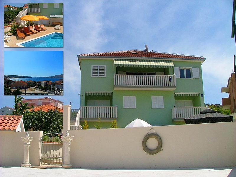 Apartment with swimming pool, 4+1 - Image 1 - Trogir - rentals