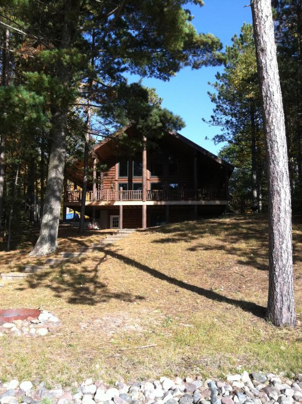 View from Lake - Stunning log cabin on private lake. - Minocqua - rentals
