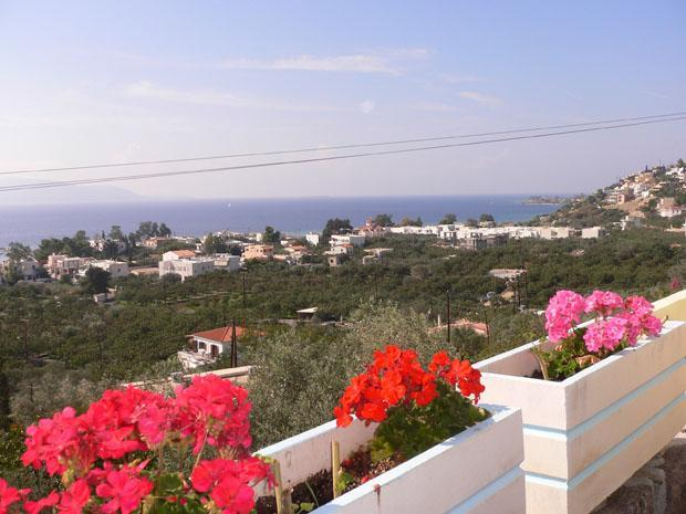 view from the parking place - Fantastic seaview Villa with pool - Marathonas - rentals