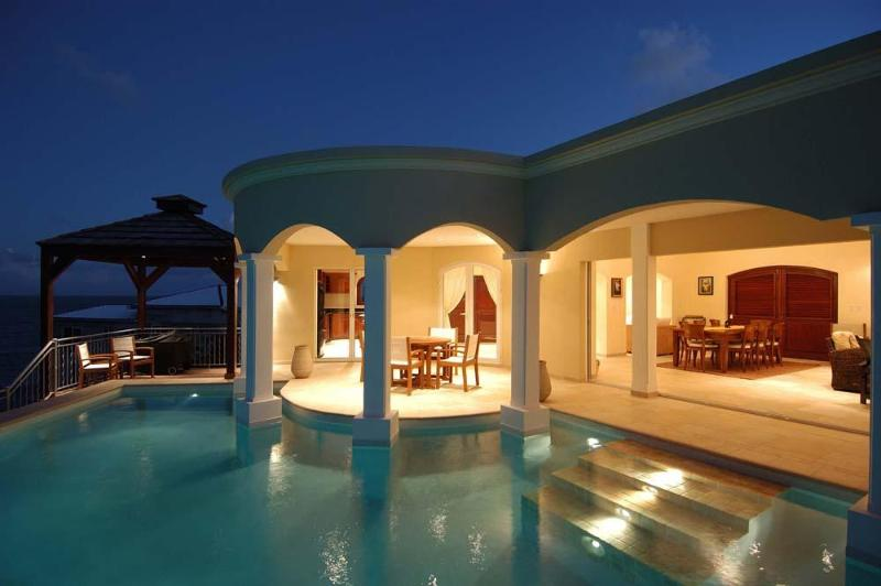 Outside dining - Amazing Ocean Views - Walk To Beach - Dawn Beach - rentals