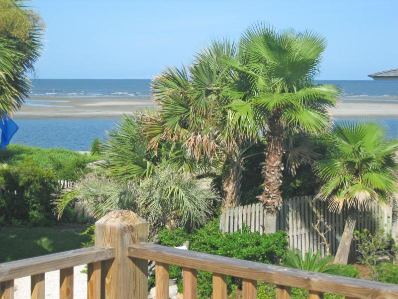 Private deck overlooking the beach - Cozy--Charming--Steps to the Beach! - Saint Simons Island - rentals