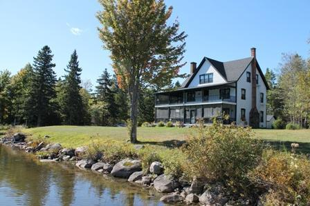 Round Lake Lodge-view from the boat house - Iron Man-Horse Show-pets OK-private lake-sleeps 18 - Lake Placid - rentals
