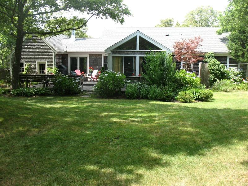 View of house from private back yard. - Private, open floor plan 3 bdrm in Dennis Village - Dennis - rentals
