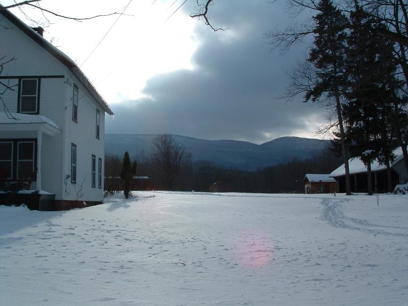 mountains behind us - SURPRISING COUNTRY HOME:  Mountains, Pathways, Sky - Windham - rentals