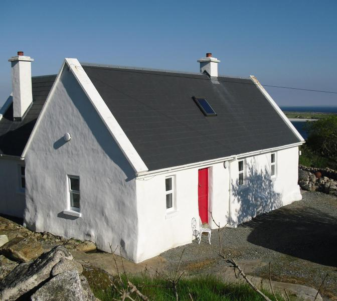 The Cottage with Dogs Bay in background - Charming Cottage near Roundstone, Beach & Sea View - Roundstone - rentals