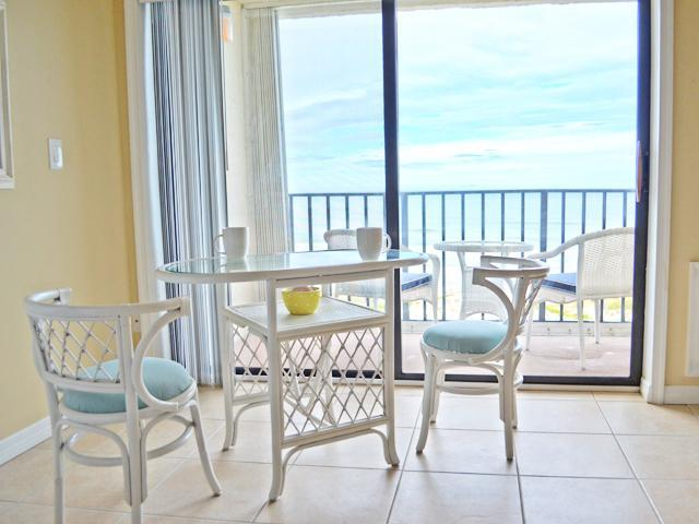 Enjoy your morning coffee or breakfast while looking out at the sunrise over the ocean. - St Augustine Direct Oceanfront 1 BR Daily & Weekly - Saint Augustine - rentals