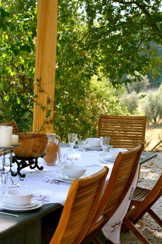 Al fresco dining - Charming farmhouse with private pool (sleeps 8) - Cupramontana - rentals