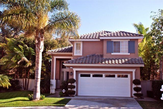 Entrance with two car garage and tropical garden - CAL RIVIERA: quiet, elegant, garden patio nr beach - San Clemente - rentals