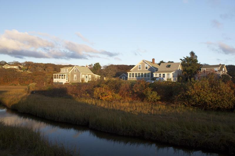 Our properties and Menemsha Creek - In Menemsha Village - Morgan House - Chilmark - rentals