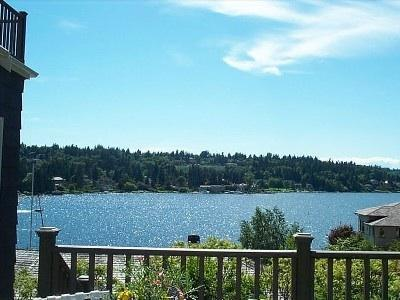 Western exposure view..a peaceful setting before you head out on your adventures - Waterfront View Cottage-5 Star Rating-Serene - Bellevue - rentals