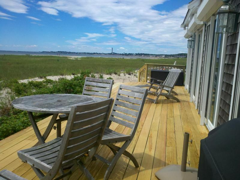 Deck  - Luxurious Beachfront Home in Provincetown - Provincetown - rentals