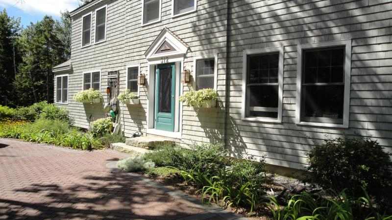 front of house - Mid-Coast Maine waterfront, private dock and cove - Harpswell - rentals