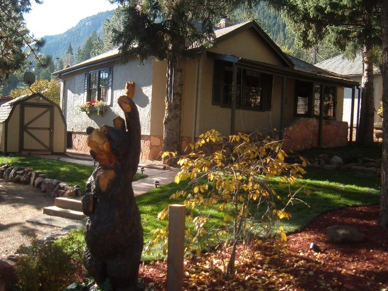 Front of home - Bear Paw sleeps 6 w/hottub and free WIFI - Green Mountain Falls - rentals