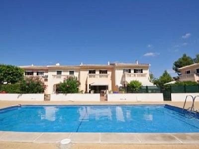 View from the pool - Family apartment near the beach with pool and A/C. - Puerto de Alcudia - rentals