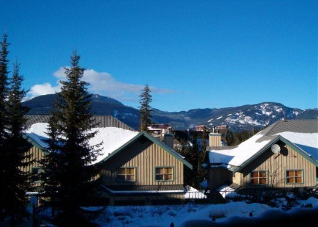 View from balcony - Forest Trails -Private garage located in upper village includes free wi fi - Whistler - rentals