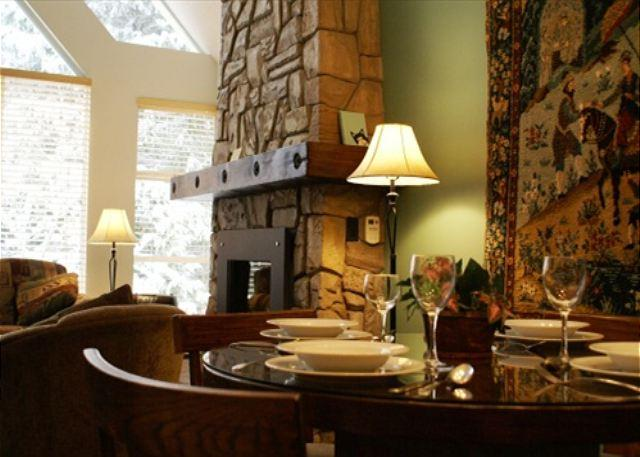 Fireplace - Deluxe Condo at Woodrun Lodge. Ski-in, Ski-out Access! - Whistler - rentals